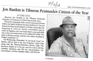 2010 TIBURON CITIZEN OF THE YEAR